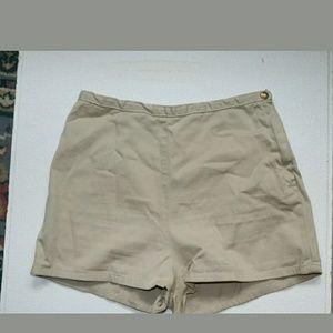 American Apparel Tan Denim Tap Short 30/31